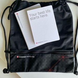 Lululemon Drawstring Backpack & Journal